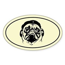 Pug Revolution! Icon Oval Decal