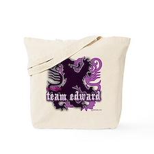 Team Edward Royal Purple Heart Tote Bag