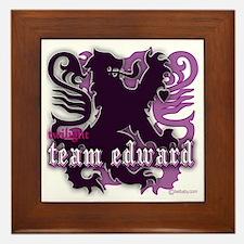 Team Edward Royal Purple Heart Framed Tile