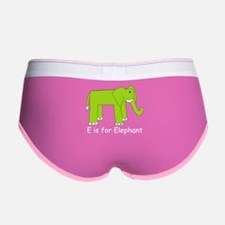 E is for Elephant Women's Boy Brief