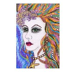 Seraphina mermaid Postcards (Package of 8)