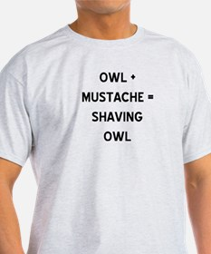 Cute Owl with mustache T-Shirt