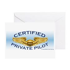 Pilot Wings Greeting Cards