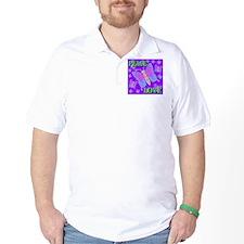 Peace & Love Butterflies Viol T-Shirt
