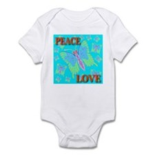 Peace & Love Butterflies Skyb Infant Creeper