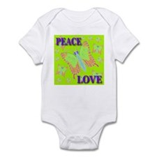 Peace & Love Butterflies Swee Infant Creeper