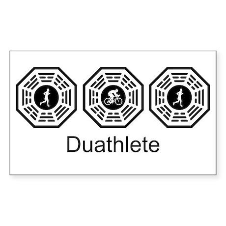 Duathlon Lost Rectangle Sticker