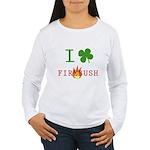 I Love Firebush Women's Long Sleeve T-Shirt
