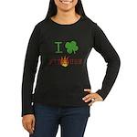 I Love Firebush Women's Long Sleeve Dark T-Shirt