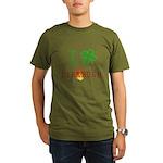 I Love Firebush Organic Men's T-Shirt (dark)