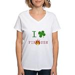 I Love Firebush Women's V-Neck T-Shirt