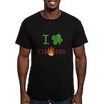 I Love Firebush Men's Fitted T-Shirt (dark)