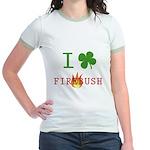 I Love Firebush Jr. Ringer T-Shirt