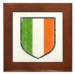 Irish Flag Crest Framed Tile
