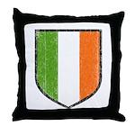 Irish Flag Crest Throw Pillow