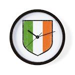 Irish Flag Crest Wall Clock