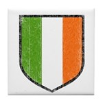 Irish Flag Crest Tile Coaster