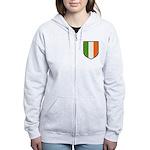 Irish Flag Crest Women's Zip Hoodie