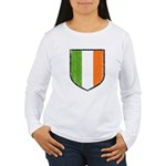 Irish Flag Crest Women's Long Sleeve T-Shirt