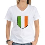 Irish Flag Crest Women's V-Neck T-Shirt