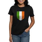 Irish Flag Crest Women's Dark T-Shirt