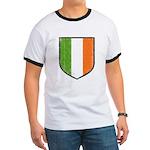 Irish Flag Crest Ringer T