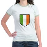 Irish Flag Crest Jr. Ringer T-Shirt