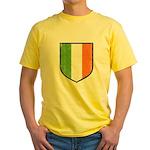 Irish Flag Crest Yellow T-Shirt