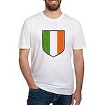 Irish Flag Crest Fitted T-Shirt