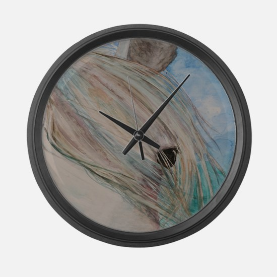 Horse eye Large Wall Clock