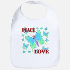 Peace & Love Butterflies Virg Bib