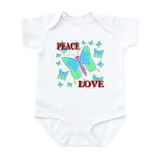 Peace & Love Butterflies Virg Infant Creeper