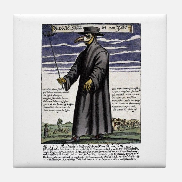 The Plague Doctor. Tile Coaster