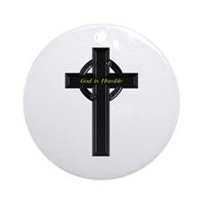 God is Humble Ornament (Round)