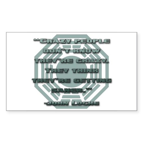 Crazy People Rectangle Sticker