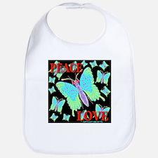 Peace & Love Neon Swallowtail Bib