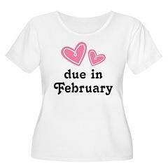 Pink Heart February Due Date T-Shirt
