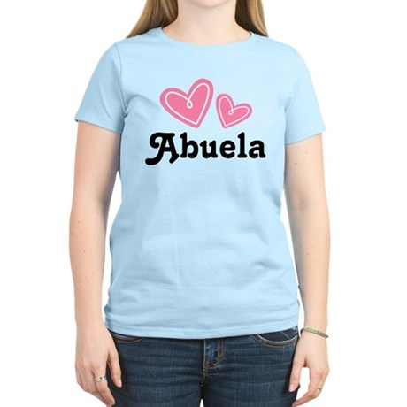 Pink Heart Abuela Women's Light T-Shirt