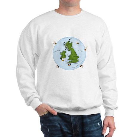 The World (England) Map Sweatshirt
