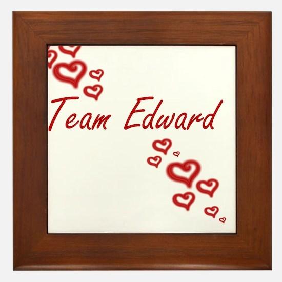 Team Edward Framed Tile