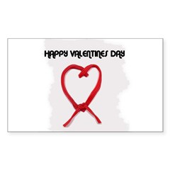 HAPPY VALENTINES DAY Rectangle Decal