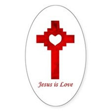Jesus is Love Oval Decal