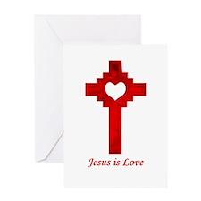 Jesus is Love Greeting Card