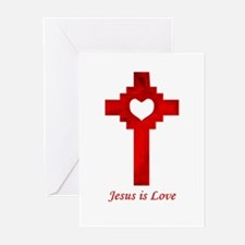 Jesus is Love Greeting Cards (Pk of 10)