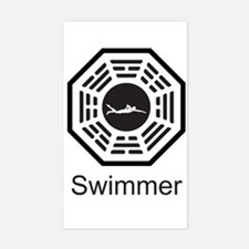 Swimmer Dharma Rectangle Decal