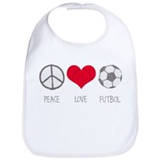 Peace Love Futbol Bib
