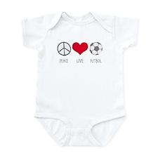 Peace Love Futbol Infant Bodysuit