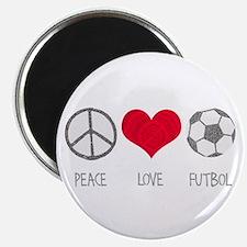 Peace Love Futbol Magnet