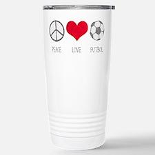 Peace Love Futbol Stainless Steel Travel Mug
