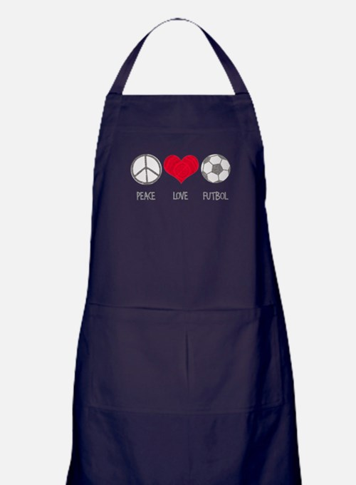 Peace Love Futbol Apron (dark)